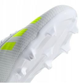 Buty piłkarskie adidas X 18.3 Fg Jr BB9372 białe wielokolorowe 4