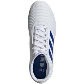 Buty piłkarskie adidas Predator 19.3 Fg Jr CM8535 białe wielokolorowe 2