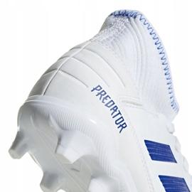 Buty piłkarskie adidas Predator 19.3 Fg Jr CM8535 białe wielokolorowe 4