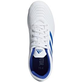 Buty piłkarskie adidas Predator 19.4 FxG Jr CM8542 białe wielokolorowe 2