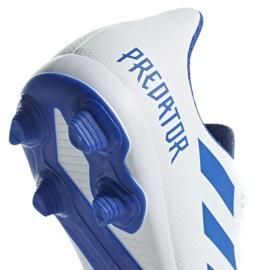 Buty piłkarskie adidas Predator 19.4 FxG Jr CM8542 białe wielokolorowe 4