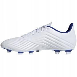 Buty piłkarskie adidas Predator 19.4 FxG M D97959 białe wielokolorowe 1
