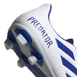 Buty piłkarskie adidas Predator 19.4 FxG M D97959 białe wielokolorowe 4