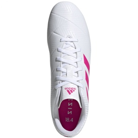 Buty piłkarskie adidas Nemeziz 18.4 FxG M D97990 białe wielokolorowe 1