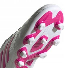 Buty piłkarskie adidas Nemeziz 18.4 FxG M D97990 białe niebieski, biały 5