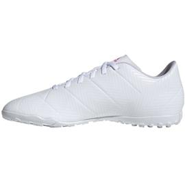 Buty piłkarskie adidas Nemeziz 18.4 Tf M D97993 białe wielokolorowe 2