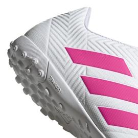 Buty piłkarskie adidas Nemeziz 18.4 Tf M D97993 białe wielokolorowe 4
