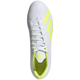 Buty piłkarskie adidas X 18.4 Fg M BB9377 białe wielokolorowe 1