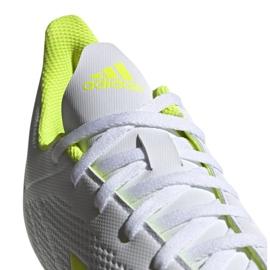 Buty piłkarskie adidas X 18.4 Fg M BB9377 białe wielokolorowe 6