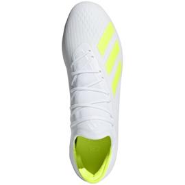 Buty piłkarskie adidas X 18.2 Fg M BB9364 białe białe 1