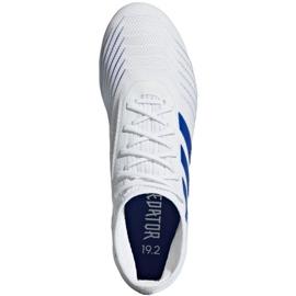 Buty piłkarskie adidas Predator 19.2 Fg M D97941 białe biały, niebieski 2