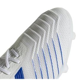 Buty piłkarskie adidas Predator 19.2 Fg M D97941 białe biały, niebieski 3