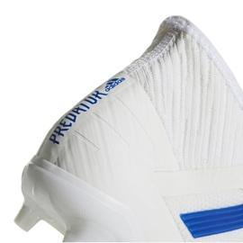 Buty piłkarskie adidas Predator 19.2 Fg M D97941 białe biały, niebieski 4