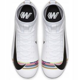 Buty piłkarskie Nike Mercurial Superfly 6 Academy Mg Jr AJ3111-109 białe wielokolorowe 1