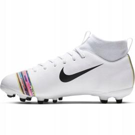 Buty piłkarskie Nike Mercurial Superfly 6 Academy Mg Jr AJ3111-109 białe wielokolorowe 2