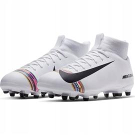 Buty piłkarskie Nike Mercurial Superfly 6 Academy Mg Jr AJ3111-109 białe wielokolorowe 3