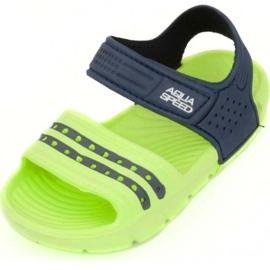 Sandały Aqua-speed Noli zielono granatowe kol.84 zielone 1