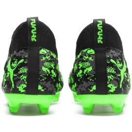 Buty piłkarskie Puma Future 19.3 Netfit Fg Ag M 105539 04 czarny, zielony czarne 2
