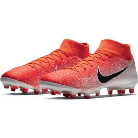 Buty piłkarskie Nike Mercurial Superfly 6 Academy FG/MG M AH7362-801 czerwone wielokolorowe 3