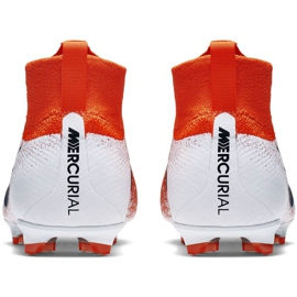 Buty piłkarskie Nike Mercurial Superfly 6 Elite Fg Jr AH7340-801 czerwone wielokolorowe 4