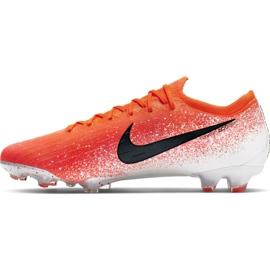 Buty piłkarskie Nike Mercurial Vapor 12 Elite Fg M AH7380-801 czerwone biały, pomarańczowy 2
