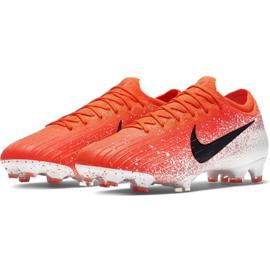 Buty piłkarskie Nike Mercurial Vapor 12 Elite Fg M AH7380-801 czerwone biały, pomarańczowy 3