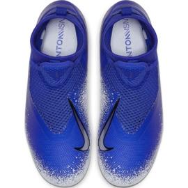 Buty piłkarskie Nike Phantom Vsn Academy Df FG/MG Jr AO3287-410 wielokolorowe niebieskie 2