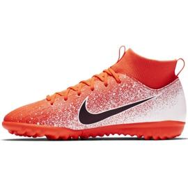 Buty piłkarskie Nike Mercurial Superfly X 6 Academy Tf Jr AH7344-801 pomarańczowe wielokolorowe 2