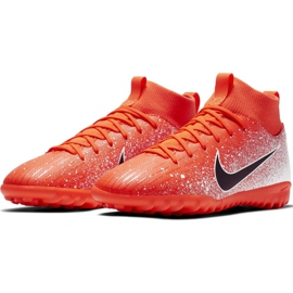 Buty piłkarskie Nike Mercurial Superfly X 6 Academy Tf Jr AH7344-801 pomarańczowe wielokolorowe 3