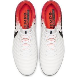 Buty piłkarskie Nike Tiempo Legend 7 Elite Fg M AH7238-118 białe biały, pomarańczowy 2