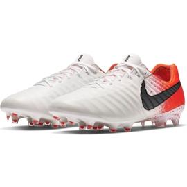 Buty piłkarskie Nike Tiempo Legend 7 Elite Fg M AH7238-118 białe biały, pomarańczowy 3