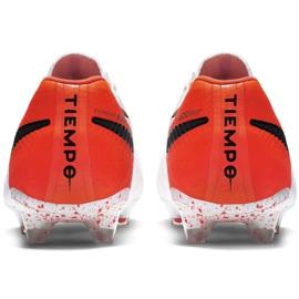 Buty piłkarskie Nike Tiempo Legend 7 Elite Fg M AH7238-118 białe biały, pomarańczowy 4
