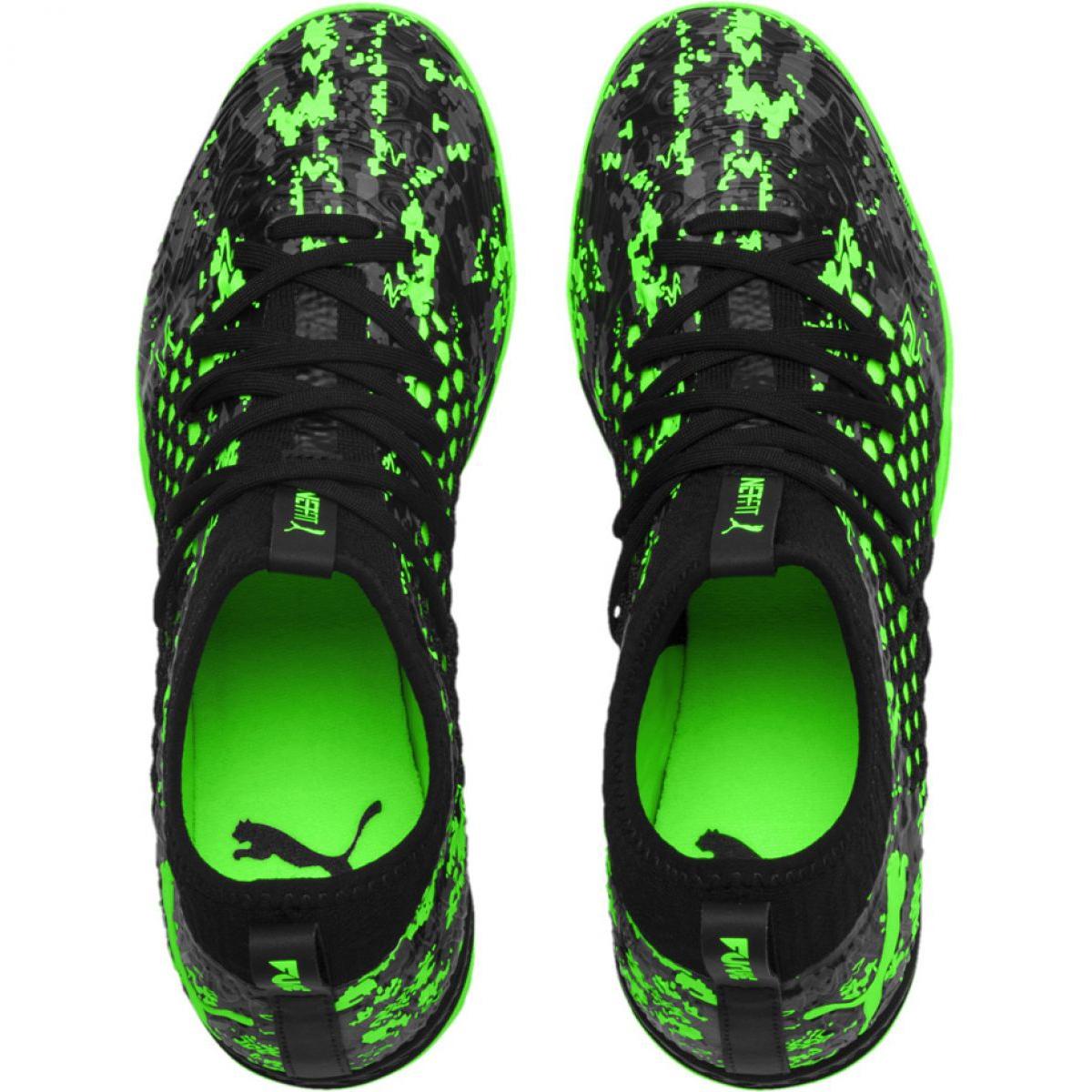 Buty halowe Puma Future 19.3 Netfit Tt M 105542 03 czarny, zielony zielone