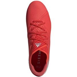 Buty piłkarskie adidas Nemeziz 19.2 Fg M F34385 czerwone czerwone 1