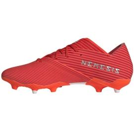 Buty piłkarskie adidas Nemeziz 19.2 Fg M F34385 czerwone czerwone 2