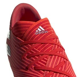 Buty piłkarskie adidas Nemeziz 19.2 Fg M F34385 czerwone czerwone 3