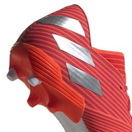 Buty piłkarskie adidas Nemeziz 19.2 Fg M F34385 czerwone czerwone 4