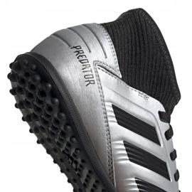 Buty piłkarskie adidas Predator 19.3 Tf Jr G25802 wielokolorowe srebrny 4