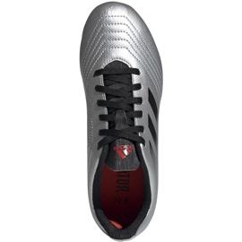 Buty piłkarskie adidas Predator 19.4 FxG Jr G25822 wielokolorowe srebrny 2
