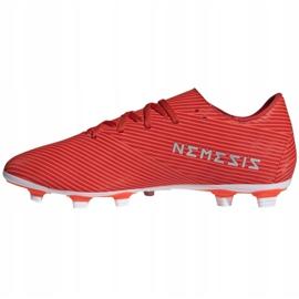 Buty piłkarskie adidas Nemeziz 19.4 FxG M F34393 czerwone czerwone 2