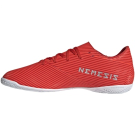 Buty halowe adidas Nemeziz 19.4 In M F34528 czerwone czerwone 2