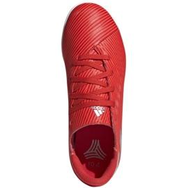 Buty piłkarskie adidas Nemeziz 19.4 In Jr F99938 czerwony czerwone 1