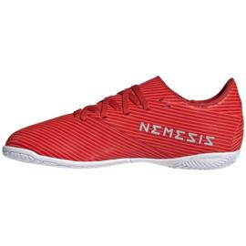 Buty piłkarskie adidas Nemeziz 19.4 In Jr F99938 czerwony czerwone 2