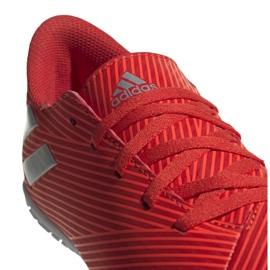 Buty piłkarskie adidas Nemeziz 19.4 In Jr F99938 czerwony czerwone 4