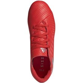 Buty piłkarskie adidas Nemeziz 19.4 FxG Jr F99948 czerwone czerwone 1