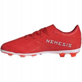 Buty piłkarskie adidas Nemeziz 19.4 FxG Jr F99948 czerwone czerwone 2