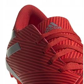 Buty piłkarskie adidas Nemeziz 19.4 FxG Jr F99948 czerwone czerwone 4