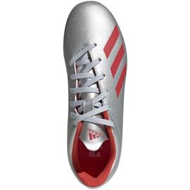 Buty piłkarskie adidas X 19.4 FxG Jr F35362 srebrny wielokolorowe 3