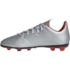 Buty piłkarskie adidas X 19.4 FxG Jr F35362 srebrny wielokolorowe 4
