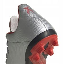 Buty piłkarskie adidas X 19.4 FxG Jr F35362 srebrny wielokolorowe 5